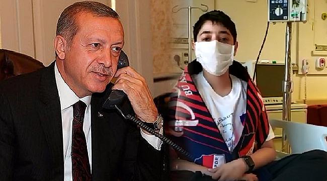 CUMHURBAŞKANI ERDOĞAN EMİRHAN'I ARADI