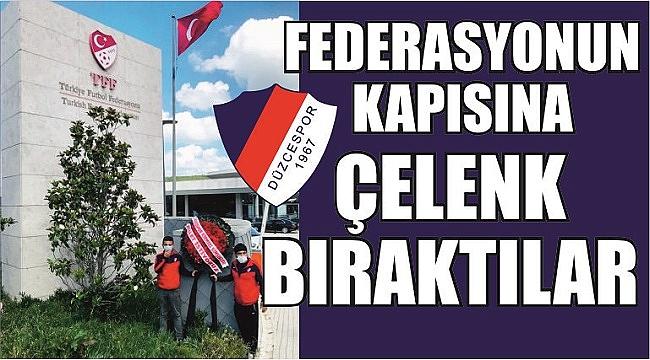 DÜZCESPOR'DAN TFF'YE PROTESTO