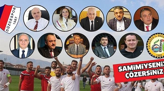 DÜZCESPOR'A SAHİP ÇIKMA ZAMANI