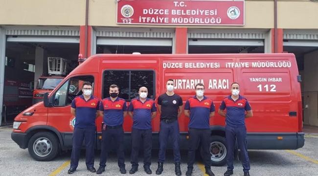 İZMİR'E DÜZCE'DEN DESTEK
