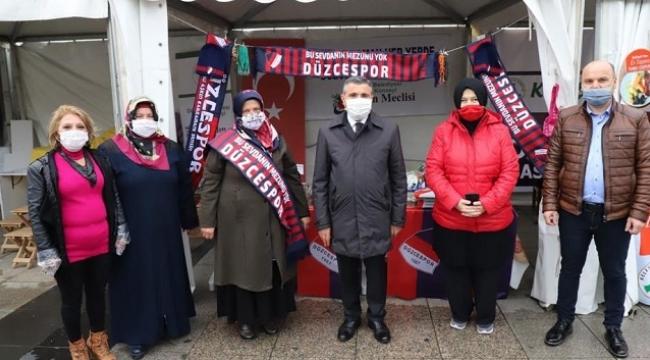 VALİ ATAY'DAN DÜZCESPOR'A DESTEK