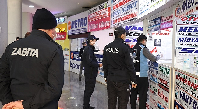 ŞEHİRLERARASI OTOGARDA KORONA DENETİMİ