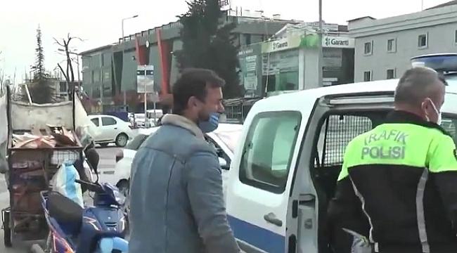 VALİ, POLİSİN CEZALANDIRDIĞI KAĞIT TOPLAYICISINA SAHİP ÇIKTI