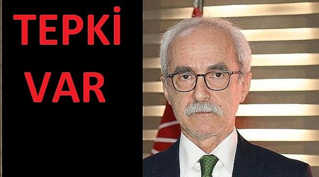 CHP İL BAŞKANI HALUK DEMİR'E PROTESTO